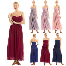Women Lace Chiffon Evening Formal Party Prom Cocktail Bridesmaid Long Maxi Dress