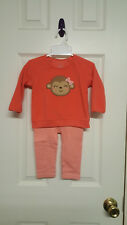 Girls Size 12 Months Child Of Mine By Carter's Orange  ( Top & Pants ) Outfit