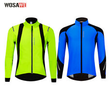 Winter Cycling Jacket Long-sleeved Sport Windproof Thermal Fleece Wind Coat