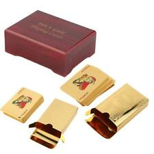 24k Gold Plated Playing Cards Full Poker Deck Pure with Box Christmas Gift MT