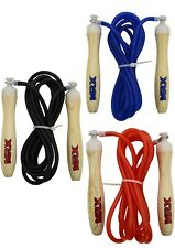 MRX 9 Feet Jumping Exercise Workout Fitness Skipping Jump Rope PVC Wooden Handle