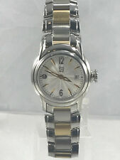 Women's ESQ Movado 07100977 QUEST Two Tone Stainless Steel Silver Dial Watch