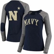 Navy Midshipmen Womens Bxc Preppy Elbow Patch 2-Hit Arch And Logo   T-Shirt