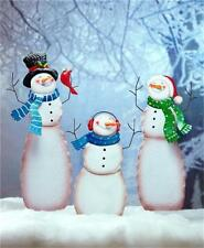 SNOWMAN CHILD MOM DAD OR FAMILY CHRISTMAS WINTER HOLIDAY YARD ART HOME DECOR