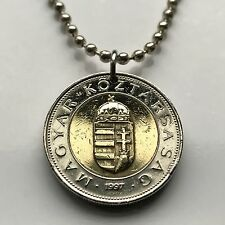 Hungary 100 forint coin pendant Hungarian holy crown St Stephen Budapest n001327