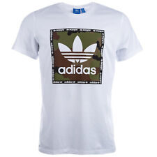 Mens adidas Originals Camouflage Box T-Shirt In White From Get The Label