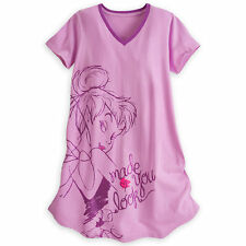 TINKER BELL FITTED NIGHT SHIRT For WOMEN DISNEY STORE Peter Pan Fairy XL/2XL NEW