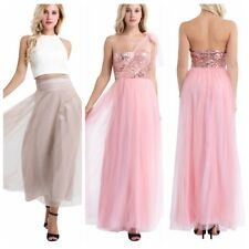 Women Ladies Sequin Dress Long Maxi Evening Party Cocktail Gown Wedding Dresses