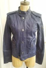 Diesel Womens Leather Jacket French navy size small - new with tags