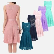 Sexy Women Wedding Bridesmaid Evening Party Prom Cocktail Lace Short Mini Dress