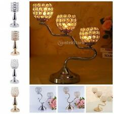 Decorative Crystal Tealight Candle Holders for Wedding Table Centerpieces