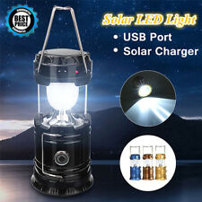 Solar Rechargeable LED Flashlight Power Camping Tent Light Torch Lantern Lamp TR