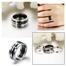 Unique 3 In 1 Cool Men's Splittable Cross Stainless Steel Band Finger Ring New