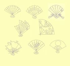 Sashiko Quilt Fans Machine Embroidery-40 Designs-By Anemone Embroidery-4 Sizes