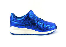 Asics women's Gel-Lyte III casual athletic shoes sneakers kicks Blue White NIB