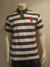 Polo Ralph Lauren Men Polo Shirt [s – L XL] Big Pony Stripes Grey NIP