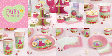Fairy Princess Table Children's Partyware - Plates/Cups/Napkins/Treat Tubs - NEW