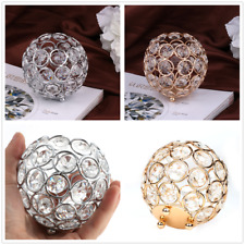 Crystal Tea Light Candle Holder  Bowl Shaped  Home Wedding Banquet Party Decor