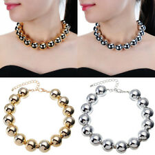 Fashion Jewelry Chain Resin CCB Pearl Beads Collar Choker Statement Bib Necklace
