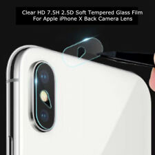 HD 7.5H 2.5D Clear Tempered Glass Film For iPhone X Back Rear Camera Lens Lot