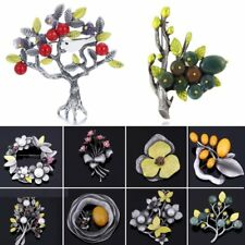 Flower Tree Dragonfly Crystal Pearl Brooch Pin Jewelry Christmas Gift Family New