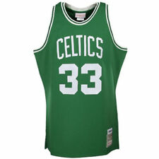 Boston Celtics Larry Bird #33 Mitchell Ness HWC Authentic Green Throwback Jersey