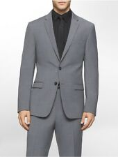calvin klein mens x fit ultra slim fit tonal plaid wool suit jacket