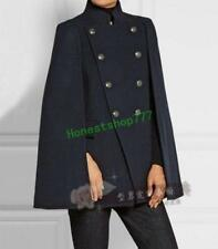 New Double Breasted Women Men Hot Outwear Cloak Cape Stand Collar Fashion Coat