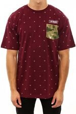 Crooks & Castles The Thieves Knit Pocket T-shirt in Burgundy 2XL NWT Crooks
