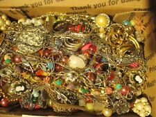 """Large Vintage to Now Estate Find Jewelry Lot, """"JUNK DRAWER"""" Unsearched Untested"""