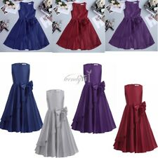 Flower Girl Dress Bowknot Princess Formal Pageant Wedding Bridesmaid Party Prom
