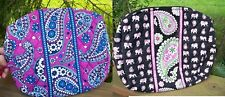 VERA BRADLEY Large Cosmetic Bag Makeup College Pink Elephants Boysenberry
