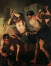 The Forge of Vulcan by Giordano, 1663 (Classic Greco-Roman Mythology Art Print)