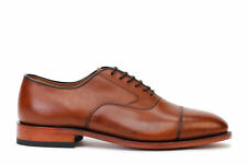 Johnston & Murphy Men's Oxford Melton Cap Toe Shoes Tan Leather 22-2982