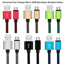 1/2/3M Braided Micro Android USB Charging Data Universal Phone Cable Adapter