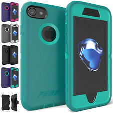 For iPhone 6 6S 7 iPhone 8 Plus Shockproof Protective Hybrid Rubber Case Cover