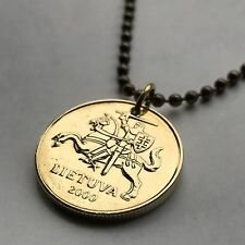 Lithuania 50 centu coin pendant armored horse medieval knight Lietuva n000879