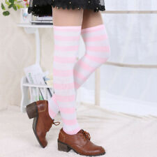 Over the Knee Socks Fashion Stockings Cotton Thigh High Stocking Striped Women