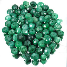 620 Ct/1500Ct Natural Emerald Round Faceted 9mm-12mm Drilled Beads For Jewelry~