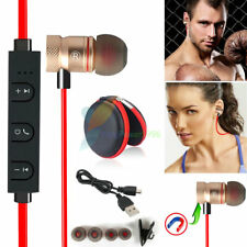 Red -YP56 Magnetic Bluetooth Handsfree Headset Earphone For Cell Phone Vivo /LG