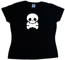 Fat Skull And Crossbones Ladies T-Shirt