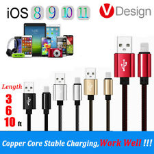 1/2/3 Meters iOS Charging USB Cable Stable Sync Data For iPhone 6/6S 5 7/8 Plus