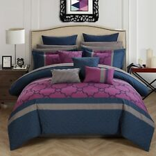 Chic Home 16-Piece Casper King Bed In a Bag Comforter Set Blue