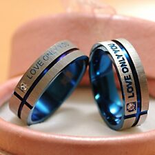 Cool Stainless Steel Forever Love Band Couple Rings Wedding Valentine's Day Gift