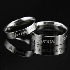 316L Stainless Steel Forever Love Circle Couple Rings Wedding Valentine's Day