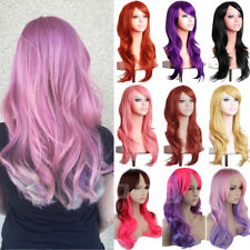 Ladies Fashion Cosplay Natural Curly Wavy Fancy Dress Womens Hair Wig Pop P65
