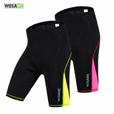 Women Outdoor Sports Cycling Shorts Stretch Cropped Trousers Bicycle Light Pads