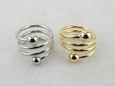 Accupressure Weight Loss Ring ~ Adjustable Band, Choose From Gold or Silver Tone
