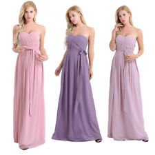 Women Evening Dress Elegant Bridesmaid Formal Prom Gown Wedding Long Dresses