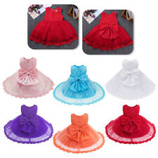 Toddler Baby Girl Princess Lace Tutu Wedding Party Pageant Formal Dress Infant
